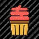 cake, cupcake, food, meal