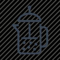 coffee, coffeemaker, maker, piston icon