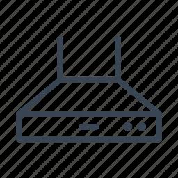 cooker, hood, kitchen icon