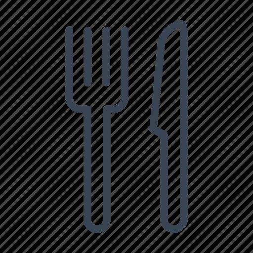 cutlery, fork, knife icon