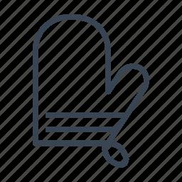 glove, kitchen, mitt, oven icon