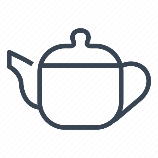 breakfast, pot, tea icon