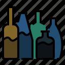 alcohol, beverage, bottle, bottles, drink, glass, wine