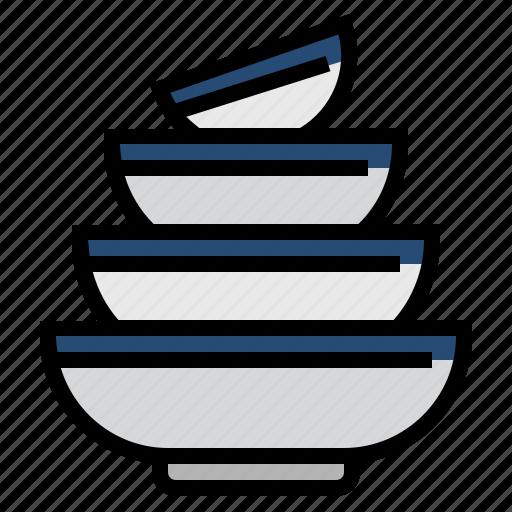 bowls, cooking, food, kitchen, restaurant icon