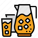 beverage, cocktail, drink, glass, jug, juice icon