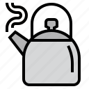 coffee, drink, hot, kettle, kitchen, tea, teapot icon