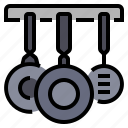 cooking, food, kitchen, pans icon