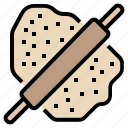 bakery, bread, cooking, kitchen, rolling pin, toast icon