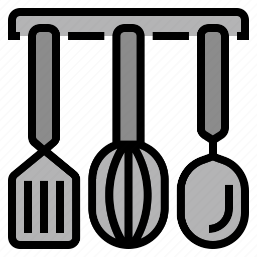 cooking, food, kitchen, ladle, restaurant, spatula, whisk icon