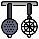 cooking, food, kitchen, kitchenware, restaurant, strainers kitchen icon