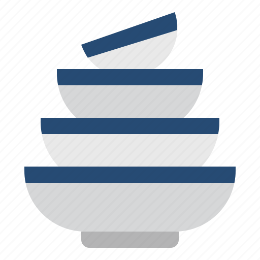 bowls, cooking, kitchen, meal, restaurant, utensil icon