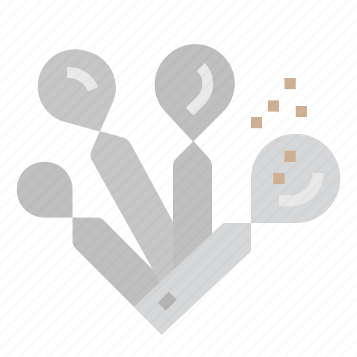 cooking, kitchen, measuring, measuring spoons, spoon icon