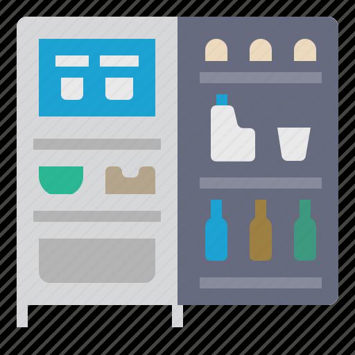 appliance, cooking, freezer, kitchen, refrigerator, restaurant icon