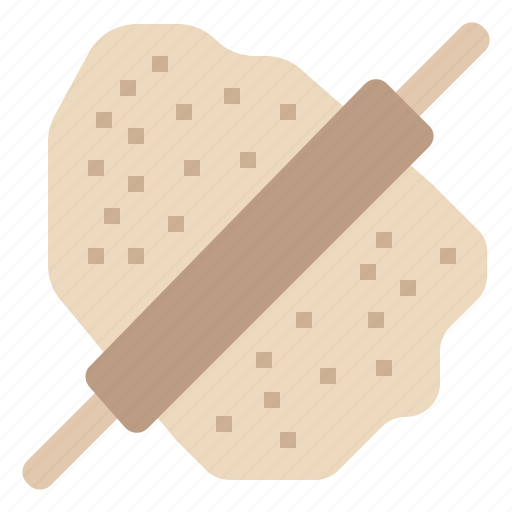 bakery, bread, cooking, kitchen, meal, rolling, rolling pin icon