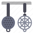 cook, cooking, kitchen, strainers icon