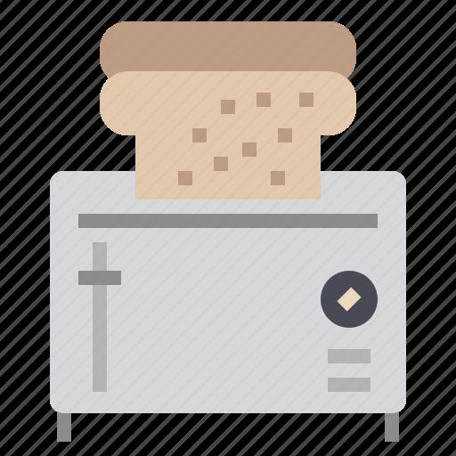 bakery, bread, breakfast, cooking, kitchen, toast, toaster icon