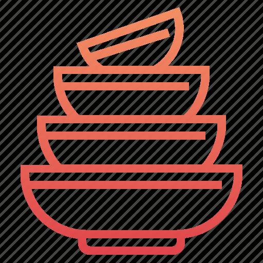 bowl, bowls, cooking, kitchen, restaurant, utensil icon