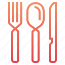 food, fork, kitchen, knife, restaurant, spoon, steak icon