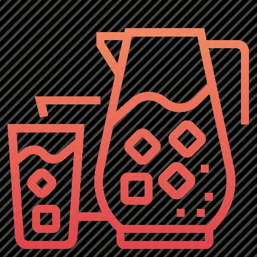 beverage, coffee, drink, glass, jug, kitchen, water icon
