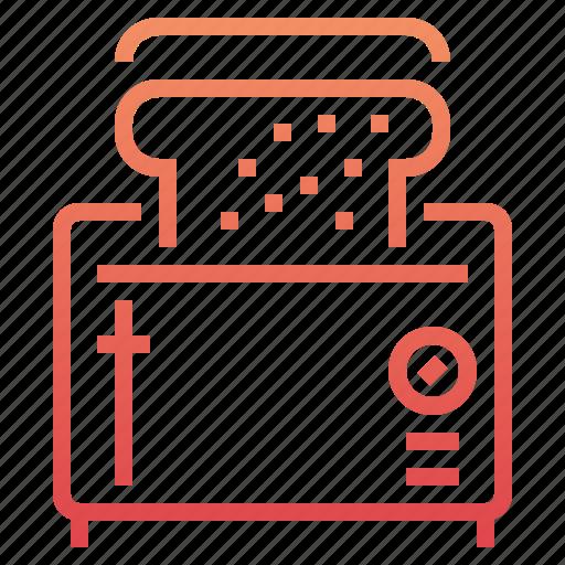 appliance, bread, breakfast, cooking, kitchen, toast, toaster icon