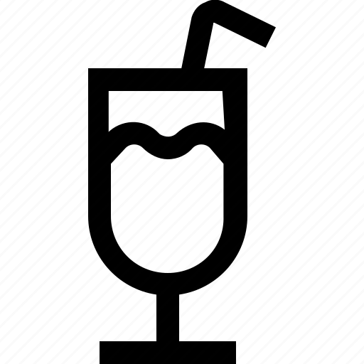 coffee, cream, drink, hot, ice, milk, straw icon