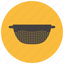 clean, colander, home, kitchen, vegetable, wash icon