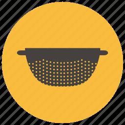 clean, colander, home, kitchen, vegetable, wash icon