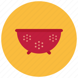 clean, colander, cooking, home, tool, vegetable icon