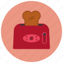appliances, bread, breakfast, home, kitchen, toaster icon