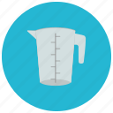cooking, cup, home, kitchen, measure, tool icon