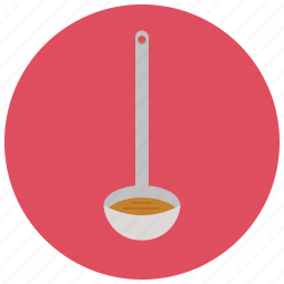 cooking, home, kitchen, ladle, soup, spoon, tool icon