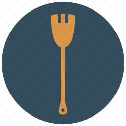 cooking, fork, home, kitchen, tool, wooden icon
