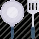 cook, kitchen, pan, spatchula, tool
