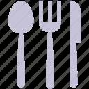cutlery, fork, knife, meal, restaurant, spoon