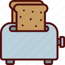 appliances, bread, food, kitchen, toaster icon