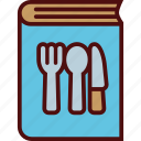 book, cook, cookbook, cutlery, kitchen, recipe