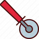 cut, kitchen, pizza, slicer, utensil icon