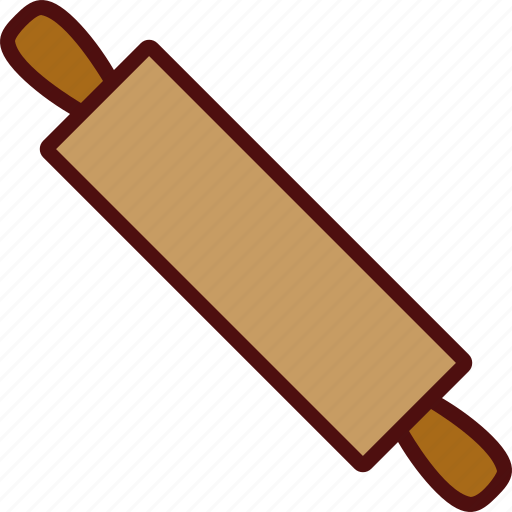 bread, kitchen, pin, roller, rolling icon