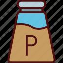 dressing, food, salt, shaker icon