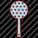 cook, kitchen, skimmer, spoon, utensil