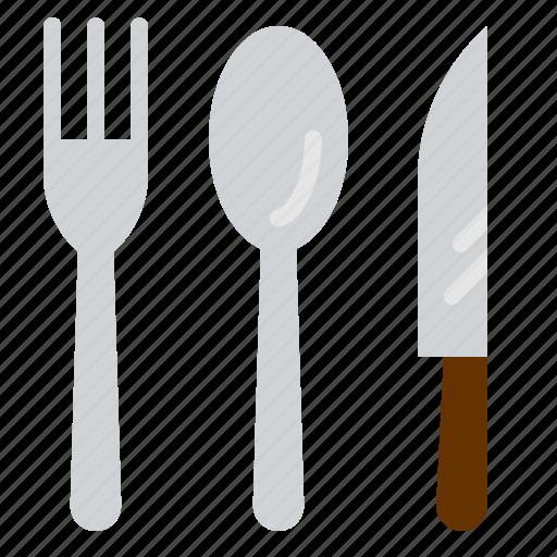 food, fork, kitchen, knife, restaurant, spoon, steak icon