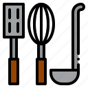 cooking, kitchen, restaurant, spatula, tools, utensils, whisk icon