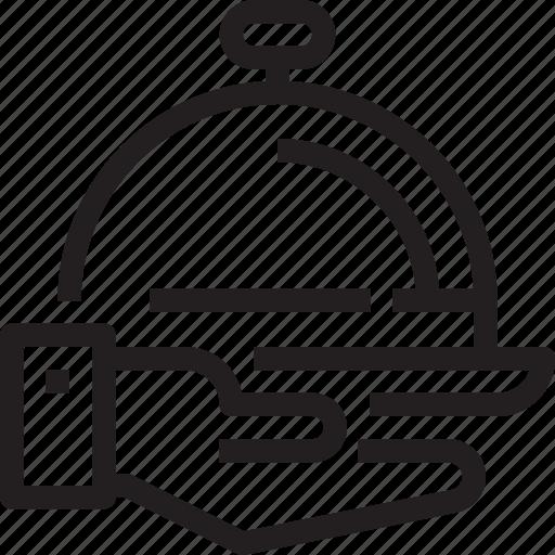 hotel, restaurant, service, tray icon