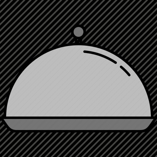 cloche, equipment, food, kitchen, silver icon
