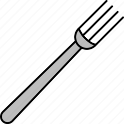 cutlery, eat, food, fork, silver icon