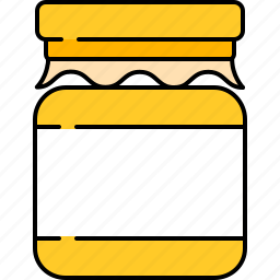 food, honey, jar, kitchen, sweet icon