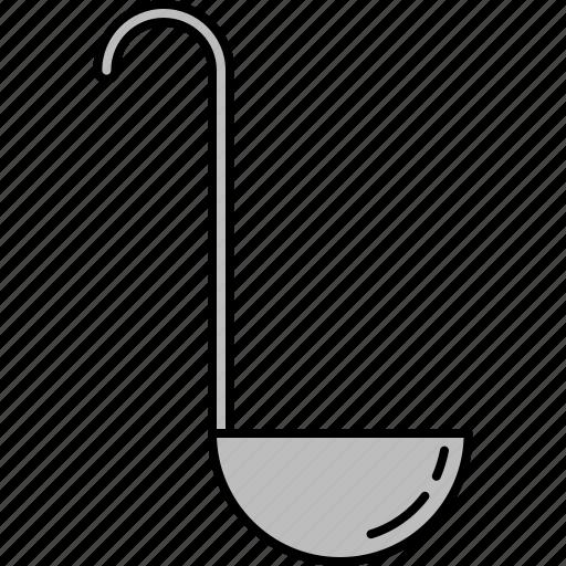 cooking, equipment, kitchen, ladle, sauce, soup icon