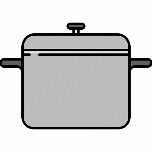 cooking, equipment, kitchen, large, pot icon