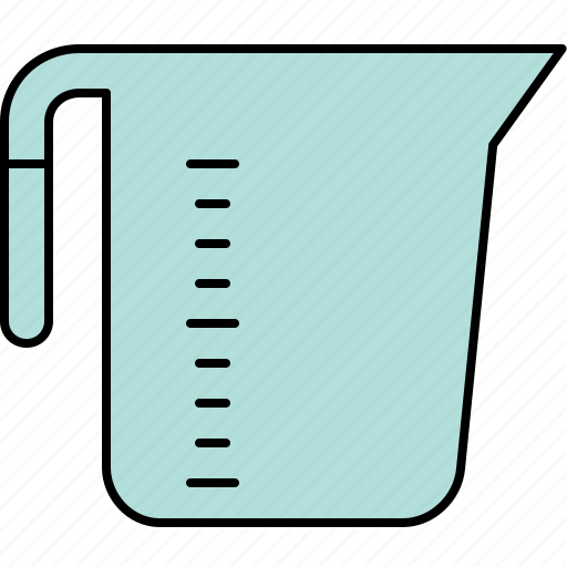 cooking, cup, equipment, kitchen, measuring icon