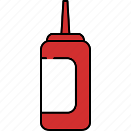 container, ketchup, kitchen, sauce, taste, tomato icon